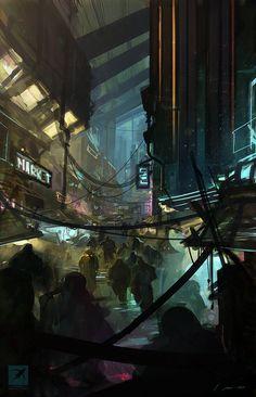 Ruas da cidade por Mike McCain | 2D | CGSociety