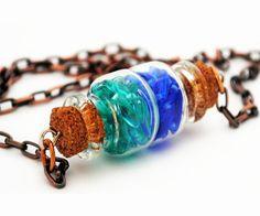 Glass Bottle Necklace Mermaid's Tears