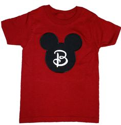 Mickey or Minnie Mouse Tee  For boys, girls, mom or dad. Great for a trip to Disney or a Disney-Themed party. Pair with the Minnie Mouse Pillowcase Dress for a cute brother-sister duo.  Personalized for FREE.  Order at www.lilbitsboutique.com/tees