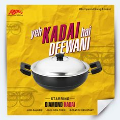 #BollywoodSwagAnusar  Save this pin if you love Bollywood and your kitchen.  To make your cooking more efficient, we bring to you our superstar: Diamond Kadai