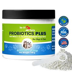 All Natural Probiotics for Dogs and Cats by InIt Pets Top Quality Pet Probiotics to Relieve Allergies Constipation Bad Breath Gas and Diarrhea 2 Billion CFU per Scoop 5 oz Container >>> Check out this great product. (This is an affiliate link) Probiotics For Cats, Best Probiotic Foods, Grain Free Cat Food, Cat Food Brands, Cat Health Care, Best Cat Food, Pet Supplements, Cool Pets, Pet Accessories