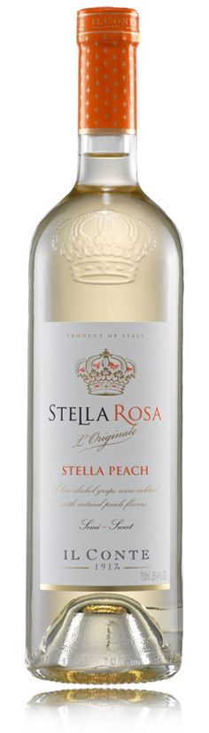 Stella Rosa Peach is a Moscato-based blend infused with natural white and yellow peach flavors. It's a semi-sweet and lightly sparkling wine that will leave a delicate flavor on your palate and nose
