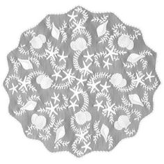 Heritage Lace® Tidepool 42-Inch Round Table Topper in White - BedBathandBeyond.com