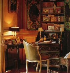 Eye For Design: Decorating Home Libraries Windsor, Beautiful Interiors, Beautiful Homes, Beautiful Library, English Decor, Home Libraries, Interior Decorating, Interior Design, Cozy Corner