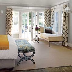 master bedroom... Love the chaise