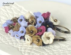 Lavender blues - handcrafted from polymer clay (own design)