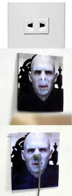 Every appliance wants to slide into Voldemort's nostrils...Beauty and the Beast cast, you're all with me right? :P