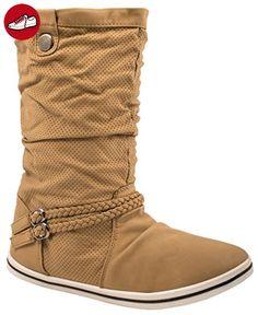 Elara Women's Boots Comfortable overknees   Block heel Wild leather trim -  Elara schuhe (*Partner-Link)   Elara Schuhe   Pinterest   Block heels