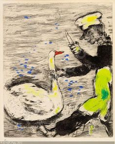 Jean de la Fontaine - Fables         ( from series ), Marc Chagall