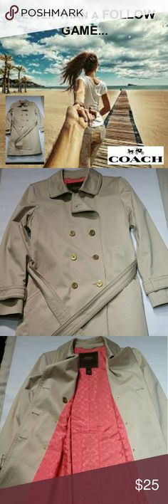 FOLLOW GAME +PLUS+ Coach Raincoat $25  - Pls Read This is a follow game...WITH A PRIZE! Let's try something NEW!........  Please ♡ LIKE this listing ♡♡ FOLLOW me and everyone who likes it ♡♡♡SHARE it/ TAG it to all your followers  I would like to reach 25K followers.  When I do...I will celebrate by marking this coat for sale...FOR $25!  Please note: liking this listing will put you on my tag list.  I promise NO spam.  I plan on giving away more high value items.  I think the next game will…
