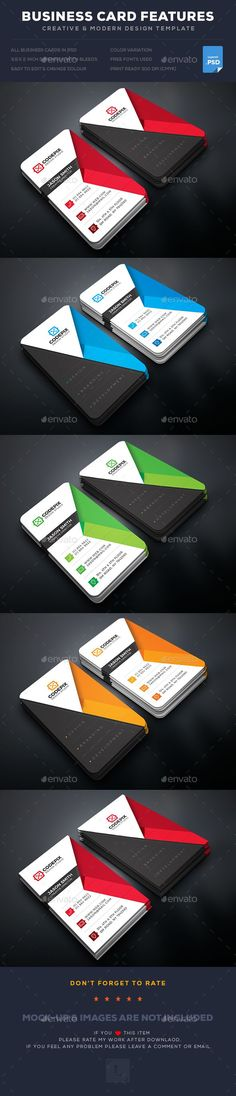 #Business #Card - Business Cards Print #Templates Download here: https://graphicriver.net/item/business-card/19253249?ref=alena994