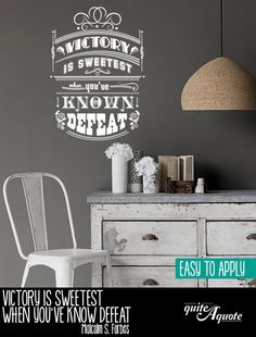Vintage Style Quote Wall Decal Vinyl Wall Lettering by QuiteAQuote