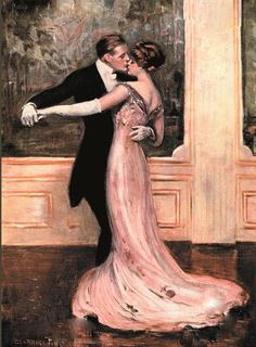 Last Waltz - Clarence Underwood. Can i please learn how to paint like this? and then can i learn how to dance like this? :) it'd be beautiful to be painted with you partner in a waltz like this. The Last Waltz, Dance Art, Waltz Dance, Renoir, Love Art, Disney Drawings, Art Photography, Pin Up, Art Gallery