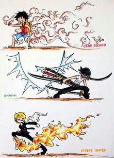 Monster Trio One Piece Luffy Zoro and Sanji