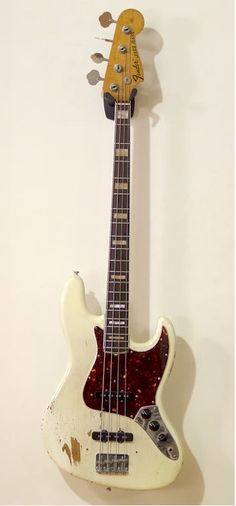 Bit of a Frankenstein bass. 1972 Fender Jazz Bass with a 1968 neck. Refinished but with nice mojo.