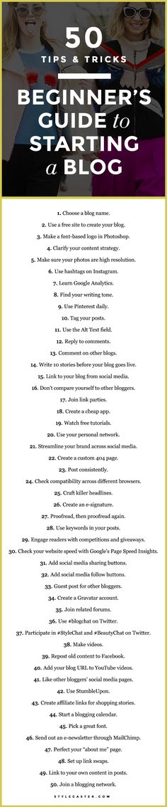 A Beginners Guide to Starting a Blog: 50 Essential Tips and Tricks
