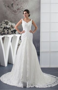 White Lace Bridal Gowns Allure Full Figure Sleeveless Fall Amazing Country Formal
