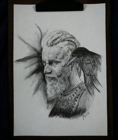 Ragnar Lothbrok watercolor
