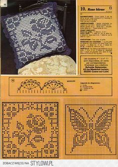 A book of bed-spreads, . Crochet Cushion Pattern, Crochet Cushion Cover, Crotchet Patterns, Crochet Cushions, Crochet Pillow, Crochet Motif, Crochet Doilies, Filet Crochet Charts, Crochet Diagram