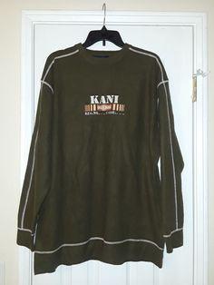 f78fd9e9823 Men Vintage 90 s Hip Hop Karl Kani Crewneck Sweater Green XL  fashion   clothing