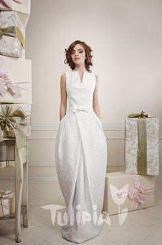 Tulipia Happy - Edit One Shoulder Wedding Dress, White Dress, Bride, Stylish, Wedding Dresses, Wedding Stuff, Happy, Fashion, Wedding Bride