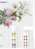 Lilies and roses cross stitch Cross Stitch Numbers, Cute Cross Stitch, Cross Stitch Heart, Cross Stitch Flowers, Cross Stitch Designs, Cross Stitch Patterns, Needlepoint Patterns, Embroidery Patterns, Cross Stitching