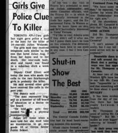 Clipping found in The Ottawa Journal in Ottawa, Ontario, Canada on Aug Girls Give Police Clue To Killer Ottawa, Police, Girls, Little Girls, Daughters, Law Enforcement