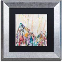 Trademark Fine Art Mercedario Canvas Art by Lauren Moss Black Matte, Silver Frame, Assorted