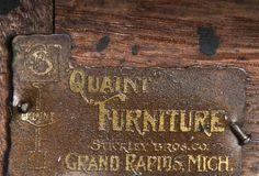 Antique Stickley Quaint Furniture Wood Dining Chairs, Set 4