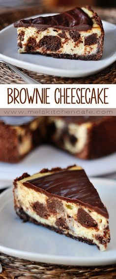 This Brownie Mosaic Cheesecake is as delicious as it is stunning. What's not to love about brownie mosaic cheesecake? Creamy cheesecake, decadent, fudgey brownie bites, all smothered in a rich chocolate ganache. No Bake Desserts, Just Desserts, Delicious Desserts, Dessert Recipes, Yummy Food, Food Cakes, Cupcake Cakes, Yummy Treats, Sweet Treats