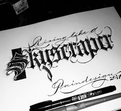 Paindesignart Gothic Lettering, Chicano Lettering, Script Lettering, Typography Letters, Calligraphy Artist, Calligraphy Words, Beautiful Calligraphy, Creative Lettering, Graphic Design Print