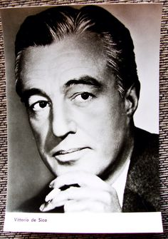 A personal favorite from my Etsy shop https://www.etsy.com/listing/489909119/near-mint-directoractor-vittorio-de-sica