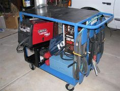 Cool welding cart / workbench, with stick, mig and some storage!    Projects - H2Os Garage