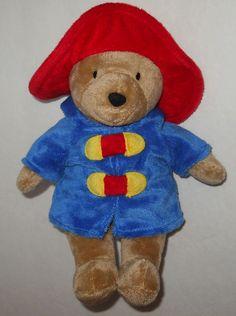 "My First Paddington Bear Stuffed Plush 9"" Rainbow Designs Blue Coat Red Hat #RainbowDesigns"