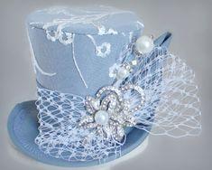 Hat Wedding Alice In Wonderland Ideas For 2019 Wedding Hats, Blue Wedding, Steampunk Hat, Steampunk Necklace, Steampunk Clothing, Steampunk Fashion, Funky Hats, Crazy Hats, Tea Party Hats