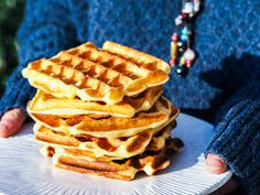 Gaufres French Waffles - My Parisian Kitchen Parisian Kitchen, Crepe Batter, Breakfast For Kids, Perfect Food, Melting Chocolate, Gluten Free Recipes, Food Processor Recipes, Biscuits, Thermomix