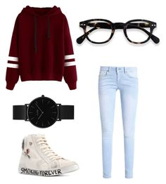 """CasualNyc"" by fdaraiza on Polyvore featuring moda, Yves Saint Laurent y CLUSE"
