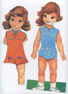 My sisters paperdolls - Front and back