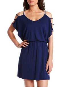 Charlotte Russe - Shoulder Strap A-Line Dress