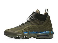 best authentic 2150f 6cf72 Nike Air Max 95 SneakerBoot Medium Olive Chaussures Nike Sportswear Pas  Cher Pour Homme 806809-