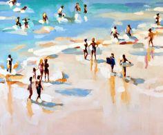 "Saatchi Art Artist Elizabeth Lennie; Painting, ""Beachlife 19"" #art"