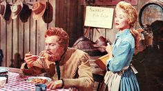 """""""Seven Brides For Seven Brothers"""" (1954) - Adam tries out Milly's cooking"""