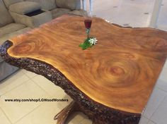 Rustic furniture and wood decor by LGWoodWonders Rustic Elegance, Rustic Furniture, Dining Table, Wood, Decor, Decoration, Woodwind Instrument, Dinner Table, Timber Wood