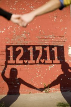 Unique shadow save the date. Maybe have the girl on the other side so u can see the ring