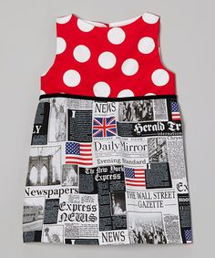 Loving this Red Polka Dot London Vogue Dress - Toddler & Girls on #zulily! #zulilyfinds