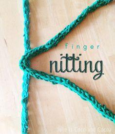 finger knitting letter k