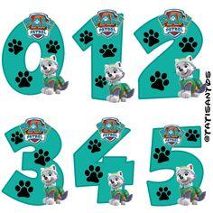 Números personalizados Everest Paw Patrol Birthday Cake, Paw Patrol Party, Los Paw Patrol, 4th Birthday, Birthday Parties, Cumple Paw Patrol, Imagenes My Little Pony, Image Digital, Little Poni