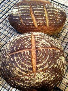 100% Whole Wheat Sicilian Sourdough Bread Recipe