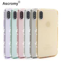 Find More Rhinestone Cases Information about Ascromy Silicone Phone Case For Apple iPhone X 8 7 Plus 6 6S 5 5S SE Case Luxury Bling Transparent Diamond Soft Back Cover Coque,High Quality phone cases,China silicone phone case Suppliers, Cheap case plus from Ascromy on Aliexpress.com