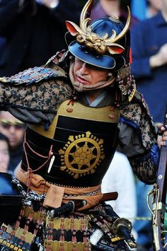 Bushi Medieval warrior, a fantasy played out at festivals across Japan every year as towns pay homage to the dramatic history of the samurai.